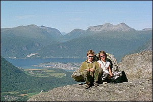 Romsdal, Romsdalsfjord, Åndalsnes and Skorgedalen in the background